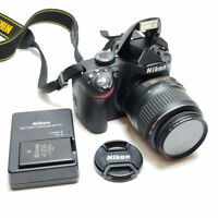Nikon D3200 24.2MP Digital SLR Camera - Black Kit w/  DX 18-55mm