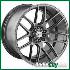 (1) F1R wheel F18 18X8.5 5-100/114.3 ET+38 HYPER BLACK FIT 240SX 300ZX 350Z 370Z