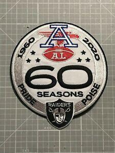 "OAKLAND RAIDERS JERSEY PATCH 1960-2020 AFL ""AL"" ""PRIDE & POISE"" BIG 5X4.5"" NEW🔥"