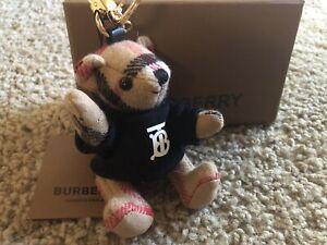 Authentic Burberry Bear Keychain Plaid TB Sweatshirt
