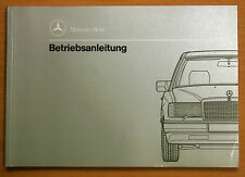 ORIG MERCEDES Betriebs Control Guide E-Class W124 200-300 D TURBO 4MATIC