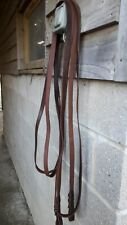 Brown English Leather  Driving Reins  With Brass Buckles