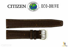 Citizen Eco-Drive AW0040-19X 20mm Brown Leather Watch Band Strap S099447