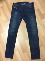 WORN Mens Diesel SLEENKER STRETCH Denim 0845S DARK BLUE Slim W32 L34 H6 RRP£150