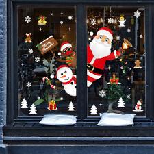 Santa Sticker Snowflakes Christmas Window Clings Decal Stickers Xmas Window JI5