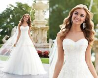 Custom Sweetheart Appliques A-line Wedding Dress Bridal Gown Prom Party Deb New
