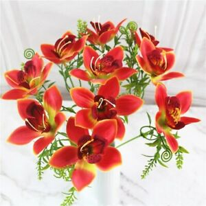 1pc Artificial Silk Orchid Flowers Fake Floral Plants Wedding Party Home Decor
