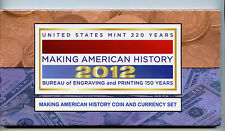 2012 Making American History Coin and Currency Set (TA8) ASE Silver Proof and $5