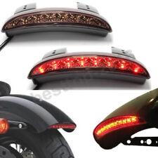 Motorcycle Rear Smoke Brake Tail Light LED License For Harley Bobber Cafe Racer
