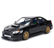 Welly 1:24 Subaru Impreza WRX STI Diecast Model Car Toy New Black