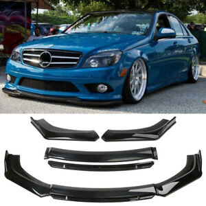 For Mercedes-Benz Car Front Bumper Lip Spoiler Splitter Body Kit Matte Black