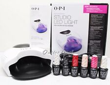 OPI GelColor STUDIO LED LIGHT Lamp GL901 + Base +Top Coat + 4 ANY Colors SET KIT