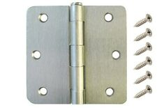 "25 Pack 3.5"" Satin Nickel Interior Door Hinges with 1/4"" Radius DH3514 Hinge"