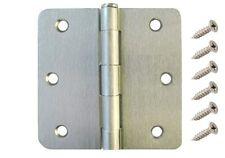 "30 Pack 3.5"" Satin Nickel Interior Door Hinges with 1/4"" Radius DH3514 Hinge"