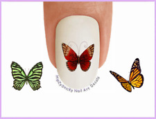 Nail Art #230 ANIMAL Butterflies #2 Warm Colors WaterSlide Nail Decals Transfers