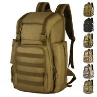 40L Military Tactical Backpack Large Army Assault Pack Molle Hiking Camping Bag