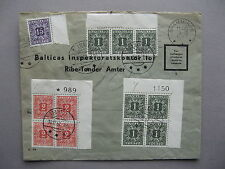 DENMARK, official return cover 1957, postage due, ao cornerblocks of 4