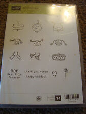 Used Stampin Up Best Bots Forever Clear Stamp Set