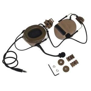 Z-Tactical Comtac II Radio Headset Helmet Mounted 2 Way Airsoft Z031-DE