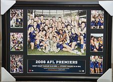 WEST COAST EAGLES 2006 AFL PREMIERS MONTAGE PRINT FRAMED JUDD WORSFOLD
