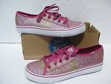 57856638004 Keds Girls Sneaker Double Up Pink Glitter Shoes 4.5 M Big Kids Sneakers NEW