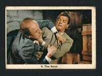 RARE 1966 THE SAINT Roger Moore Monty Gum TV Movie Trade Card #4 Show Series
