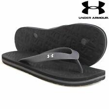 Men's Under Armour Slippers Black/Graphite Sandals Atlantic Dune Flip Flops UA
