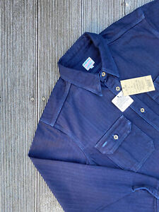 NEW Momotaro Jeans INDIGO HERRINGBONE WORK SHIRT Sashiko Jacket Overshirt 05-286