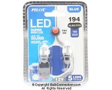 NEW Pilot Automotive 194 BLUE LED Bulb, 2-Pack IL-194B-5 12V 1W Bulb