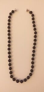 Guizippe Perez Shungite And Sterling silver Necklace With Sapphire New 350CT