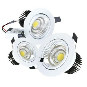 Dimmable LED Recessed Ceiling Downlight COB Lamp Bulb Indoor 9/15/18W Cool White