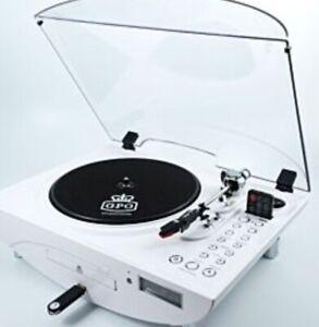 White GPO Jive Record Player Retro 3-Speed Vinyl Turntable CD FM Radio MP3 - VGC
