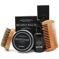 Beard Grooming & Trimming Kit for Men - Beard Oil & Balm,Beard Brush & Free Comb