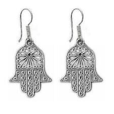 Sterling Silver HAMSA HAND Dangle Earrings, Made in USA