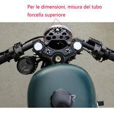 39MM COPPIA SEMIMANUBRI Manubrio Alluminio Racer per cafe racer Harley-Davidson