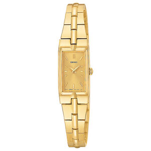 Seiko SUP276 SUP276P9 Ladies Solar Watch gold-tone gold face NEW RRP $495.00