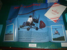 AIR COMMAND WALL CHART & DEALER BOOKLET C96A GYROPLANE,ELITE,ROTARY WIING