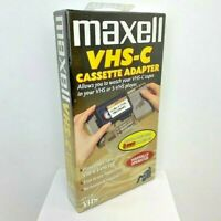 Maxell VHS-C Cassette Adapter for Camcorder Tapes to VHS VCR VP-CA Sealed NOS