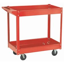 16 x 30 STEEL SERVICE UTILITY PUSH SHOP CART & 2 TRAYS