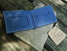Handmade Original Horween Leather Men's Wallet - Bifold GOYA - Tropical Blue