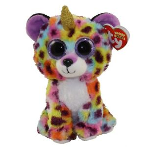 """Giselle The Leopard With Horn Plush Soft Toy,Ty Beanie Boo's Collection 6""""(15cm)"""