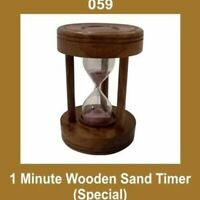 New Vintage 1 Minute Wooden Sandglass Sand Timer Nautical Decor