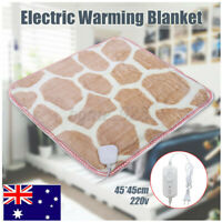 45*45cm Soft Heated Winter Electric Warming Blanket Sofa Bed Sweetroom Knee AU ~