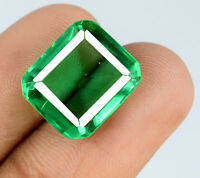 Muzo Colombian Emerald Gemstone 8-10 Ct. 100% Natural Emerald Cut AGSL Certified