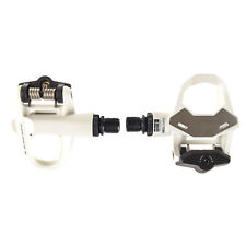 LOOK KEO 2 Max Road Cycling Pedals with Gray Grip Cleats: WHITE- INSTALLED