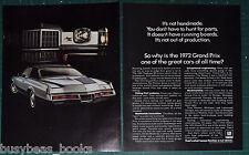 1972 PONTIAC GRAND PRIX 2-page advertisement, silver 2-door GP