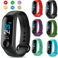 Sport BP Heart Rate Monitor Bracelet Fitness Wristband Smart Watch Black
