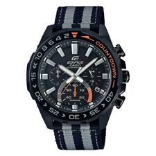 Casio Edifice Solar-Powered Chronograph Black Cloth EFSS550BL-1A EFS-S550BL-1A