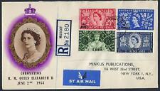 OMAN 1953 QUEEN ELIZABETH CORONATION FDC