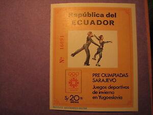 Ecuador Stamp Scott# 1057A  Ice Skating 1984 Winter Olympics MNH L11
